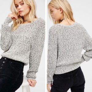 NEW FREE PEOPLE / ELECTRIC CITY PULLOVER SWEATER